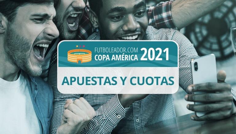 Todas las cuotas de apuestas de la Copa América 2021 en Argentina y Colombia