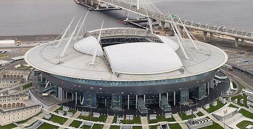 Estadio Krestowsky en San Petersburgo es la sede de la Eurocopa 2021