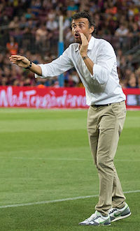 El entrenador nacional de España Luis Enrique