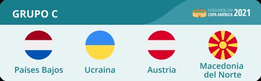 Todo del Grupo C de la Eurocopa 2021 con los Países Bajos, Ucraina, Austria y Macedonia del Norte