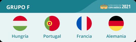 Portugal, Alemania, Francia y Hungría están en EURO 2021 Grupo F