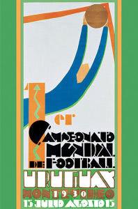 El cartel de la 1ª Copa del Mundo de la historia en Uruguay