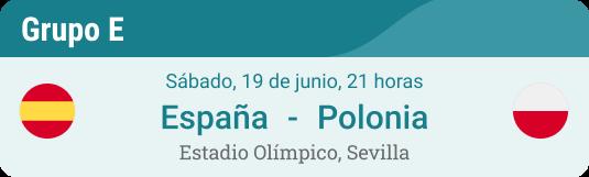 Pronóstico para España - Polonia en la Eurocopa 2021 Grupo E el 19 de Junio