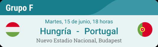 Previo y pronóstico para Hungría - Portugal el 15 de junio 2021 en Eurocopa Grupo F