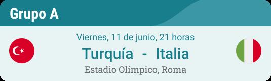 El primer partido de Turquía - Italia en la Eurocopa 2021 grupo A