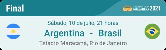 Pronóstico y cuotas para la final de la Copa América 2021 Argentina - Brasil